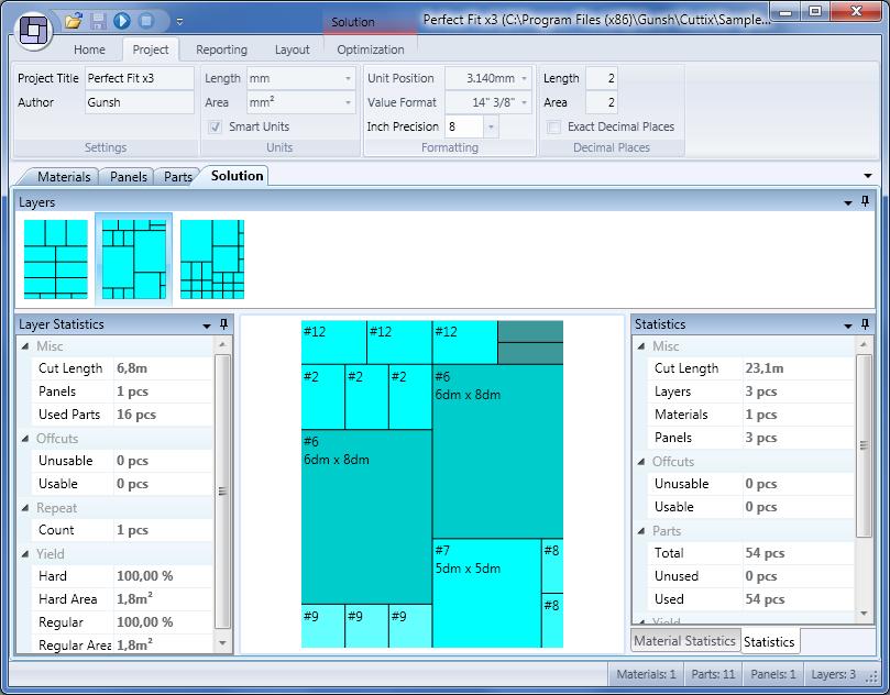 Sheet Cutting 2D Layout Optimization Software - Product Details